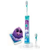 飞利浦(PHILIPS)儿童电动牙刷 HX6322/04  蓝牙版智能APP动画声波震动牙刷