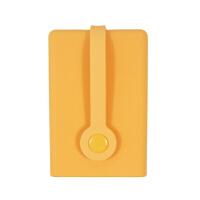 20180825030824330创意多功能硅胶钥匙卡包 可爱大容量抽拉式硅胶钥匙套emo 桔色 磁铁扣
