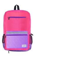 KOKUYO国誉护脊减负学生双肩包带防雨套雨衣背包容量可扩增书包中号加厚版粉色WSG-SBN02P当当自营