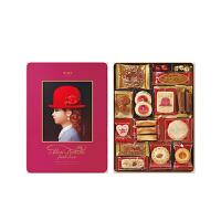 【年货】红帽子什锦曲奇饼干新年礼盒 粉色礼盒339g 日本进口休闲零食巧克力糖果伴手礼