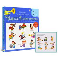 Usborne Listen And Learn Musical Instruments 乐器发声书 儿童英语有声书籍