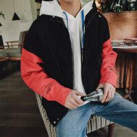 韩版青年学生棒球服流刺绣拼色秋冬男士外套飞行员夹克宽松秋装潮