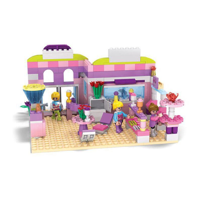 兼容乐高积木 女孩别墅房子梦幻冰淇淋店拼装女孩益智力玩具3-6岁
