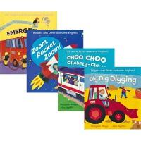 Dig Dig Digging Choo Choo Clickety-Clack! 幼儿科普绘本4册 儿童交通工具认知绘
