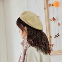 贝雷帽女秋冬帽子女韩版羊毛呢蓓蕾帽英伦日系百搭八角帽甜美可爱