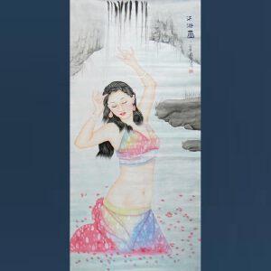 现代画家  杨丽   沐浴图  /58