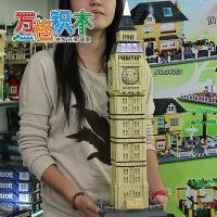 万格儿童益智拼插积木玩具 组装 世界建筑 伦敦大本钟8014