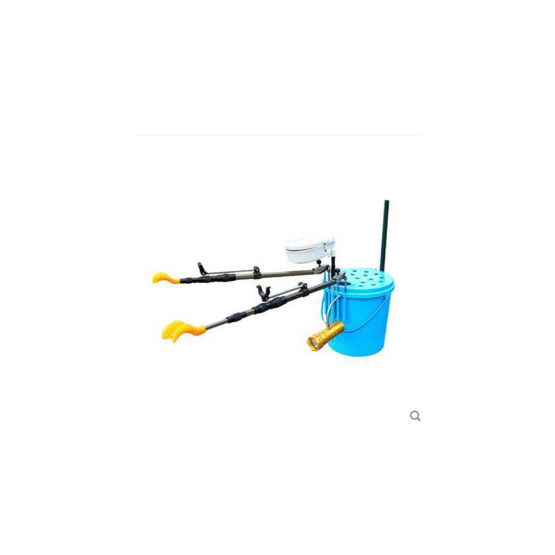 结实持久耐用便携鱼箱可插支架钓伞拉饵盆水桶多功能钓箱加厚可坐式钓鱼桶 品质保证,支持货到付款 ,售后无忧