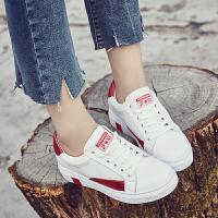 休闲鞋女女内增高女鞋小白鞋新款平底百搭韩版学生单鞋季系带女鞋