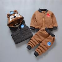 童装男童宝宝冬装女童儿童卫衣套装三件套