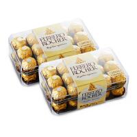 Ferrero 费列罗 榛果威化巧克力盒装 30粒 2盒组合