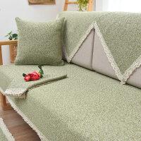 棉麻沙发垫布艺飘窗坐垫简约现代沙发套罩巾全包盖四季通用