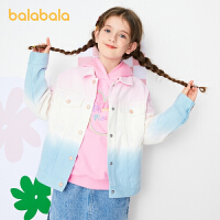 【2件6折价:149.9】巴拉巴拉女童外套2021新款春装童装中大童儿童牛仔上衣