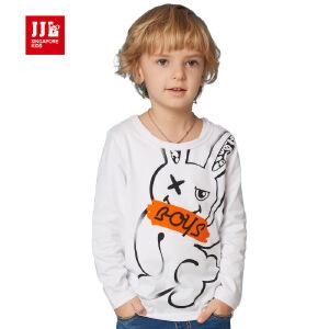 jjlkids季季乐童装春秋圆领男童长袖t恤纯棉卡通时尚T恤长袖BCT63016