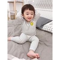 男宝宝内衣套装小童家居服条纹长袖睡衣秋衣秋裤