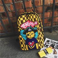 双肩背包潮流学生包双肩包韩版高中学生书包女大容量旅行背包 海盗猫 收藏送小礼物