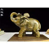 纯铜象摆件吉祥如意摆件黄铜铸造成型如意象中号小号仿古铜像
