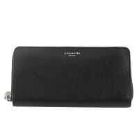 【9.9新】COACH 女士黑色PVC长款钱包