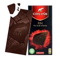 Cote D'or克特多金象 亿滋进口 比利时70%可可黑巧克力排装100g 七夕* 休闲小零食