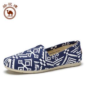 骆驼牌休闲帆布男鞋 秋季 新款时尚休闲套脚鞋轻便舒适