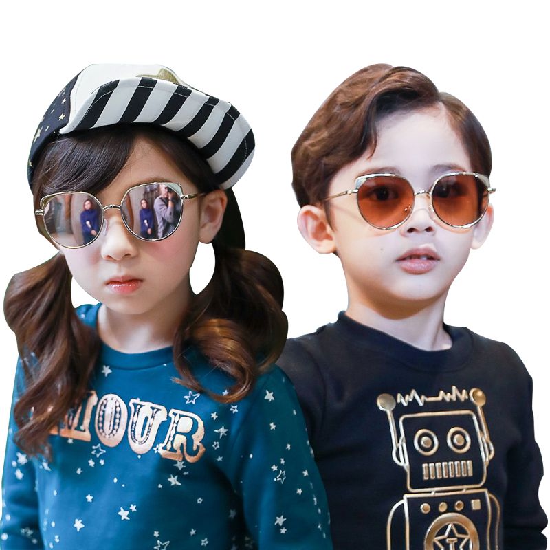 KK树新款儿童眼镜墨镜潮男女童太阳镜宝宝太阳镜个性舒适防紫外线17年新款 舒适