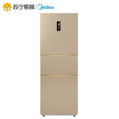 【苏宁易购】Midea/美的BCD-231WTM(E)阳光米家用电脑风冷无霜三门电冰箱金色231升风冷无霜 电脑控温