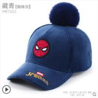 冬季儿童帽子秋冬迪士尼男童棒球帽鸭舌帽遮阳帽潮蜘蛛侠宝宝帽子