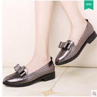 莫蕾蔻蕾小皮鞋女学院英伦风夏新款女鞋复古粗跟单鞋鞋子女百搭韩版 70195