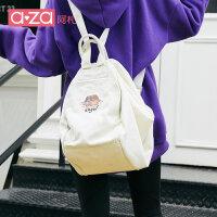 【立减100】aza包包女2019新款书包女韩版学生背包ins百搭大容量帆布双肩包