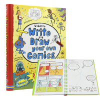 Usborne Write and Draw Your Own Comics 创作属于自己的漫画 儿童英语图书 英文原