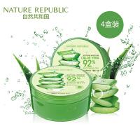 4盒装 韩国 Nature Republic/自然乐园芦荟胶 保湿祛痘 300ml/盒