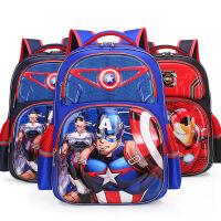 开学书包小学生1-3年级男孩漫威美国队长6-12岁儿童双肩书包