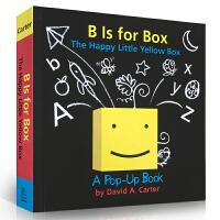 顺丰发货 B Is For Box:The Happy Little Yellow Box B代表盒子 幼儿启蒙认知英文原版绘本立体书 David A. Carter