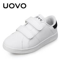 【每满100立减50 仅限4.17-4.19】UOVO童鞋儿童运动鞋 中大童男童鞋白色搭扣休闲鞋女童新款 萨尔斯