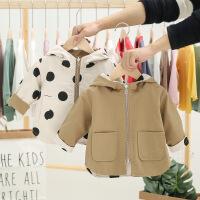 婴儿风衣外套短款秋装男女宝宝两面穿洋气夹克外套0一1-2岁春秋4