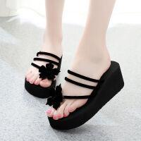 人字拖鞋女韩版厚底夏季女式时尚凉鞋高跟女士拖鞋夏新款外穿 36 (适合35码脚)
