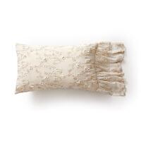 丁香花法式抱枕 ins蕾丝轻奢沙发靠背靠垫欧式床头枕腰枕套