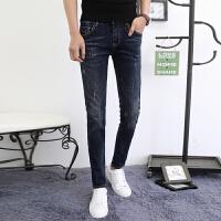 新款春季牛仔裤男士韩版潮流修身型显瘦款小脚长裤青少年学生