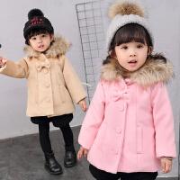 女童秋冬装毛呢外套宝宝小女孩呢大衣
