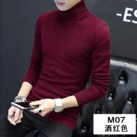 高领毛衣男2018新款韩版秋冬季男士黑色线衣修身加绒加厚针织衫潮