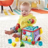 费雪探索学习六面盒CMY28 音乐形状配对儿童双语早教益智婴儿玩具