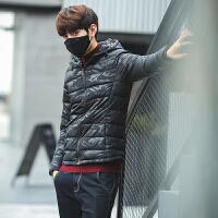 新款冬季羽绒棉服 棉衣男士保暖修身迷彩 情侣款连帽外套