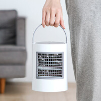 2019椭圆水冷空调扇冷风扇夜灯冷风机USB桌面冷气扇制冷机