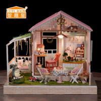 智趣屋diy小屋别墅手工制作房子模型玩具拼装创意音乐盒女生礼物