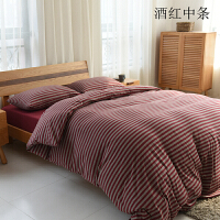 天竺棉四件套裸睡针织棉全棉纯棉床单床上用品床笠三件套 2.0m(6.6英尺)床 床笠款(套在床垫上)