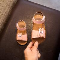2019年夏季新品女宝宝学步凉鞋花朵公主鞋0-1-2岁3防滑软底夏天时尚女童婴儿学步鞋平底小童罗马鞋