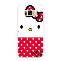 简约哈喽 凯蒂猫女款 三星S10 S9 plus S8 + S7e Note8 手机壳 S6 edge(硬壳)