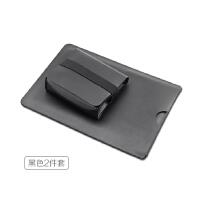 戴尔dell笔记本电脑包XPS12 9250内胆包 超薄本保护套 皮套袋 鼠标款 黑色2件 12寸
