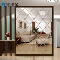 菱形立体镜面墙贴 客厅餐厅玄关电视背景墙创意装饰亚克力贴饰G