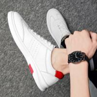皮鞋男夏季新品新款中青年男士牛皮板鞋韩版百搭运动休闲鞋男个性潮男单鞋透气小白鞋